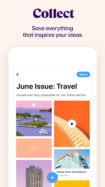 Collect: Save and share ideas Screenshot